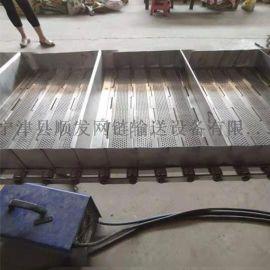 食品机械流水线耐磨耐高温输送机  链板