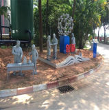 文化廣場人物玻璃鋼雕塑 佛山名圖雕塑人物造型