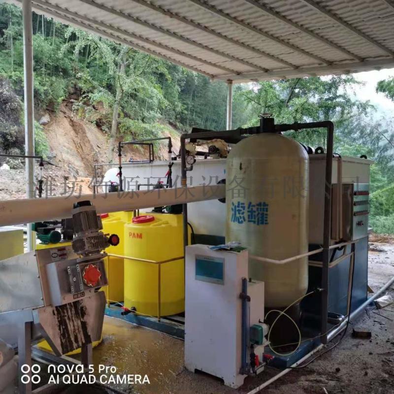 生态养猪场污水处理设备 竹源气浮机 出水可灌溉农田