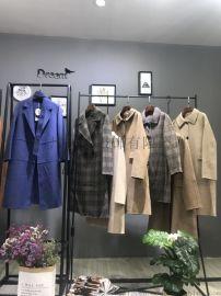 折扣女装批发 双面羊毛羊绒大衣 品牌女装走份货源