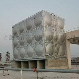 宾馆酒店用大型不锈钢组合水箱  304球面水箱定做