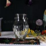 法式花瓶玻璃花瓶乾花花瓶水培桌面花瓶