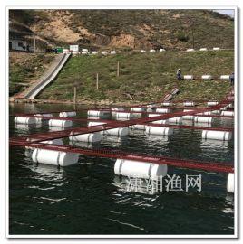 浮动式养鱼网箱PE,移动养殖网箱平台选择潇湘渔网