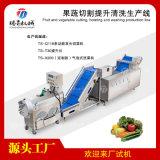 蔬菜水果切割提升清洗生产线厨房加工设备