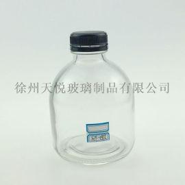 500ml玻璃酒瓶胖墩透明晶白料米酒黃酒定制玻璃瓶