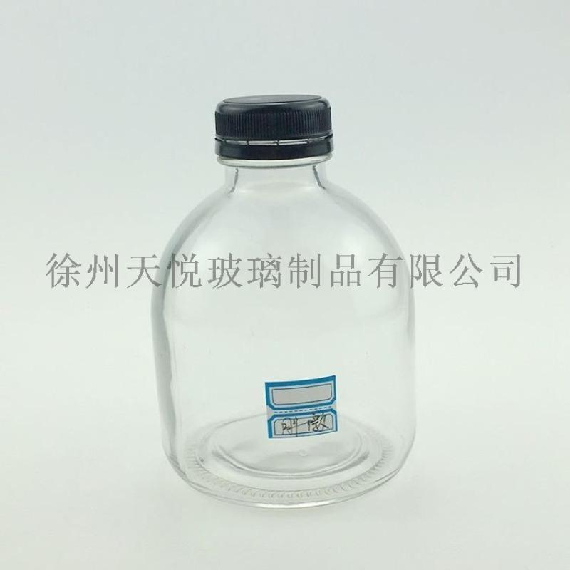 500ml玻璃酒瓶胖墩透明晶白料米酒黃酒定製玻璃瓶