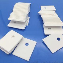 氧化铝陶瓷散热片陶瓷绝缘垫片绝缘陶瓷片有孔陶瓷