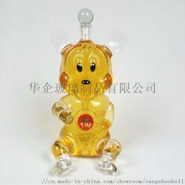 米奇造型玻璃酒瓶动物老鼠工艺醒酒器