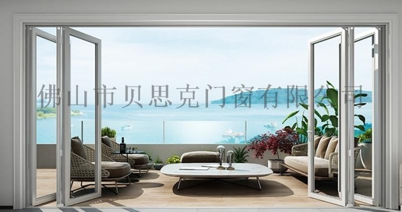 佛山折叠门厂家定制 重型钛镁铝合金玻璃折叠门