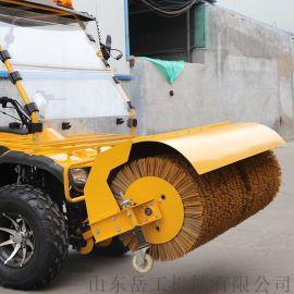 扫雪滚刷安装 滚刷扫雪机 公路扫雪车