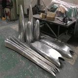 白色波紋曲面鋁單板 銀灰色扭曲造型鋁單板