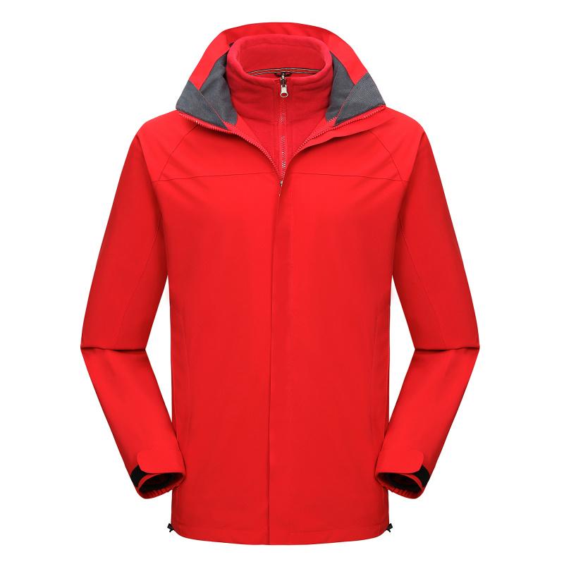 新款防水防寒保暖冲锋衣带反光条快递外卖工服