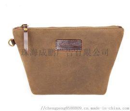 外贸工厂定制旅行男士棕色帆布袋