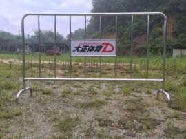 1.5米带板不锈钢护栏 展会隔离临时铁马 安全围栏