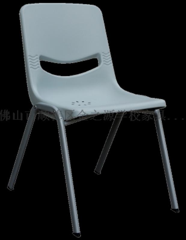 廠家直銷善學塑鋼椅,連體椅教學椅培訓椅圖書館椅子