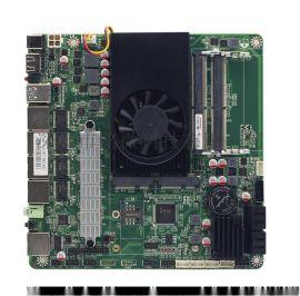 四网口工控主板集成3865U支持4SATA主板