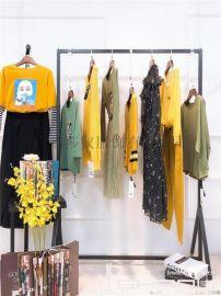 玛斯狄娃19秋新款时尚**品牌女装折扣走份货源、