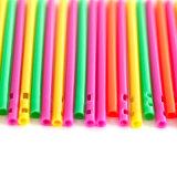 77mm彩色雙孔糖棒  一次性環保pp塑料糖棒