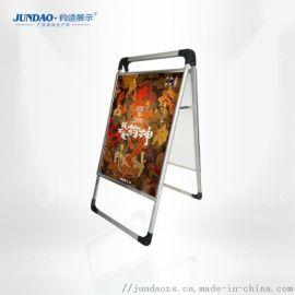 青岛铝合金会展展示架/海报架尺寸工艺精湛