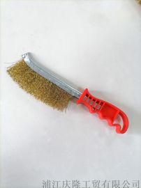 塑料柄刀刷 刀形钢丝刷 金属表面除锈钢丝刷