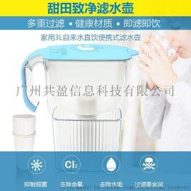 甜田净水壶 过滤水壶家用 厨房自来水过滤器 净水器