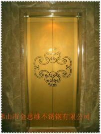 酒店304不鏽鋼包邊門框 金色亮面不鏽鋼門套