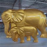 玻璃鋼大象雕塑 樓盤景觀動物雕塑美陳裝飾