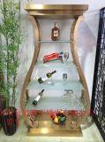 别墅定做不锈钢酒架批量制作,钛金不锈钢  柜定制