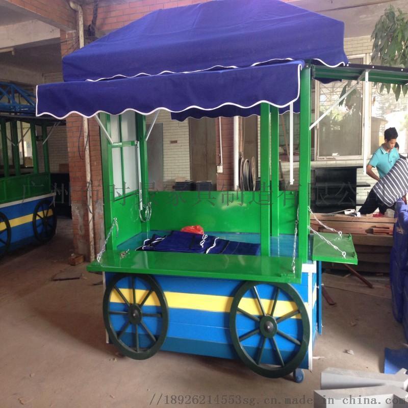 售 车 小型便捷环保小吃实木售 车