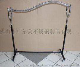 定制不锈钢展示架服装店展示架厂家**