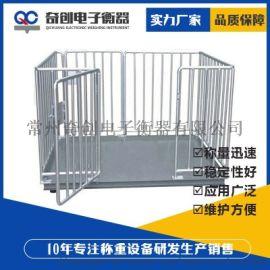 常州奇创销售带围栏畜牧电子秤,可定制台面尺寸