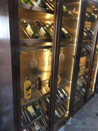 不锈钢恒温酒柜常温酒柜  架