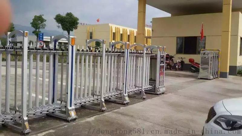 不鏽鋼自動伸縮門 鋁合金自動伸縮門