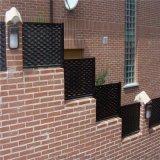 河北裝飾鋁板網廠家,3mm厚氟碳噴塗鋁板網焊框