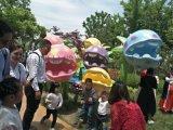 廠家供應玻璃鋼食人花雕塑 植物園景觀雕塑