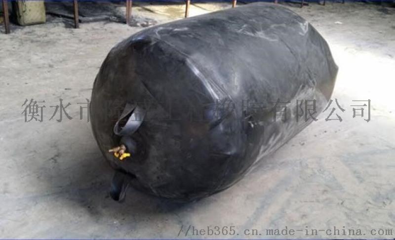 江西赣州封堵气囊DN800管道堵水气囊两胶一布型