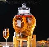 20斤家用葡萄釀酒密封玻璃泡酒罐帶蓋人蔘泡酒罈子