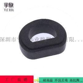 开模定制新能源设备减震隔热耐高温模压硅胶发泡制品