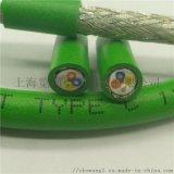 4芯绿色工业PROFINET高柔性总线电缆