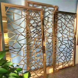 五福临门仿古铝屏风 拉丝氧化铝屏风应用效果