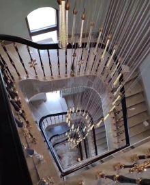 18K镀金铜楼梯扶手厂