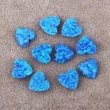 OP05蓝色桃心人造澳宝 合成欧泊蛋白石首饰裸石