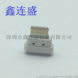 TYPE-C母座16P立式直插板PD快充插板替换中美规欧规
