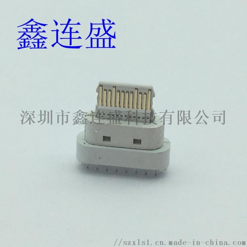 TYPE-C母座16P立式直插板PD快充插板替換中美規歐規