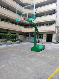 广州带轮移动篮球架配钢化玻璃篮球板室外成人篮球架