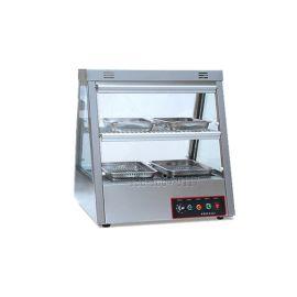 炸类食物保温保湿机器 多功能食物保温柜报价 双层食物保温展示柜