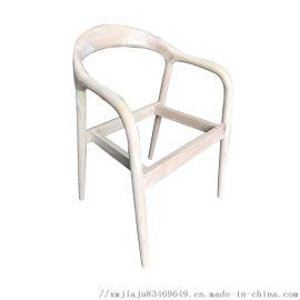 北欧舒美特实木餐椅子扶手书美特橡胶木实木餐椅白茬坯