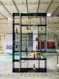 不锈钢博古架入墙式不锈钢酒架家用不锈钢黑钛酒架定制