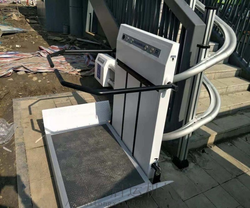 全自动无障碍设备残疾人电梯连云港销售弯轨斜挂电梯