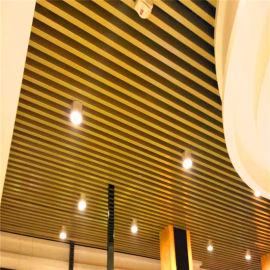 **珠宝店吊顶木纹铝方管 热转印木纹铝方管工艺